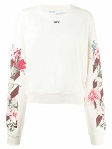 Off-White floral sweatshirt - NEUTRALS