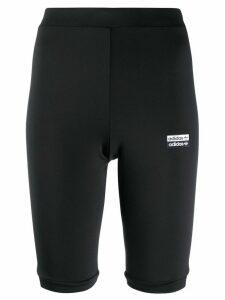 Adidas logo print cycling shorts - Black