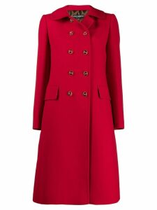 Dolce & Gabbana double breasted mid-length coat - Red