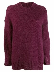 Isabel Marant oversized mohair jumper - Purple