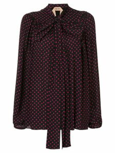 Nº21 polka dot printed blouse - Black