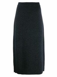 Pringle of Scotland side slit knitted skirt - Grey