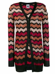 M Missoni zig-zag stripe cardigan - Red