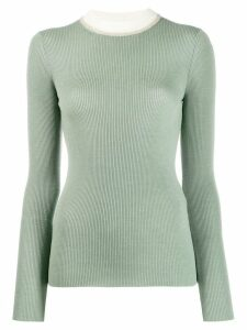 Missoni contrast collar jumper - Green