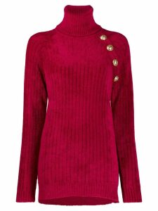 Balmain turtle neck sweater - Red