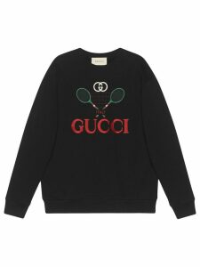 Gucci Oversize sweatshirt with Gucci Tennis - Black