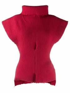 Unravel Project distressed sleeveless sweater - Red