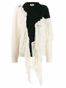 MSGM fringed knit jumper - Black