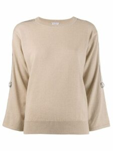 Brunello Cucinelli classic slim-fit sweater - Neutrals