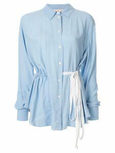 Marni drawstring waist shirt - Blue