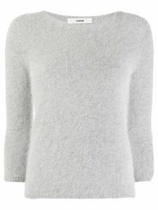 Roberto Collina furry knit sweater - Grey