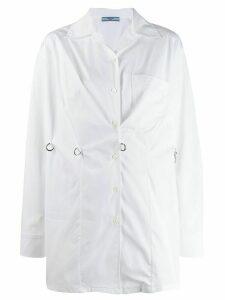 Prada hook fastening shirt - White