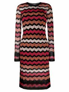 M Missoni zig-zag knit dress - Black