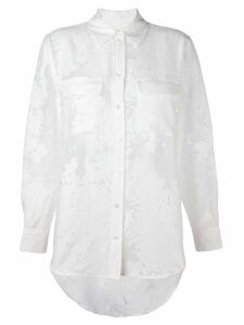 Equipment semi sheer jacquard shirt - White