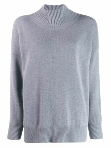 Roberto Collina funnel neck jumper - Grey