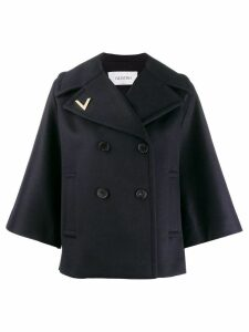 Valentino flare sleeve coat - Blue