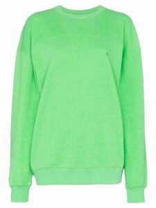 pushBUTTON classic oversized sweatshirt - Green