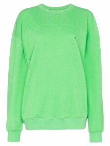 pushBUTTON classic oversized sweatshirt - Green