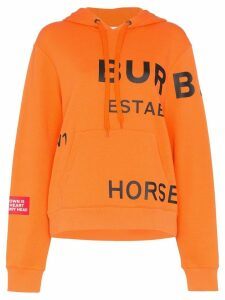 Burberry Horseferry logo print hoodie - Orange