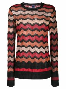 M Missoni zig-zag knit jumper - Black