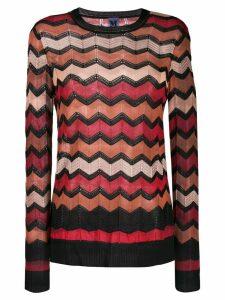 M Missoni zig-zag knit jumper - Black