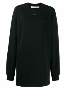 Off-White crystal logo long sweatshirt - Black
