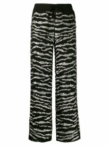 P.A.R.O.S.H. sequin embellished trousers - Black