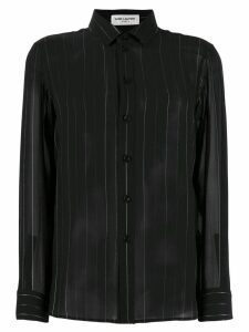 Saint Laurent sheer striped shirt - Black