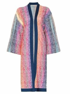Mary Katrantzou Sola rainbow stripe knit cardigan - Blue