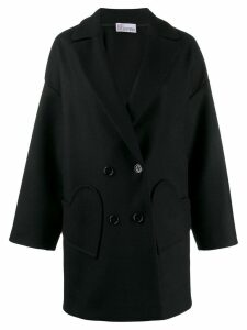 RedValentino oversized double breasted coat - Black