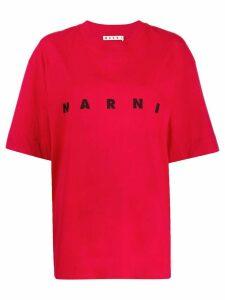Marni oversized logo T-shirt - Red