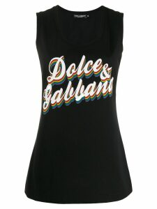 Dolce & Gabbana logo print tank top - Black