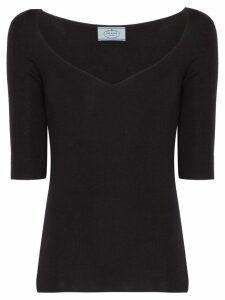 Prada silk and cashmere sweater - Black