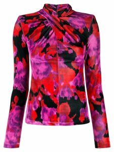 Richard Quinn watercolour print top - Red