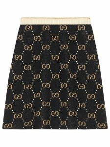 Gucci GG pattern knit skirt - Black