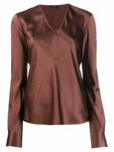 Joseph V-neck blouse - Brown