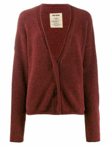 Uma Wang dropped shoulder cardigan - Red