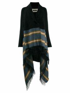 Uma Wang oversized stripe cardigan - Black