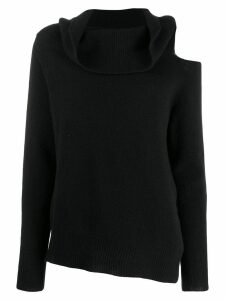 Pinko knitted cut-out sweatshirt - Black
