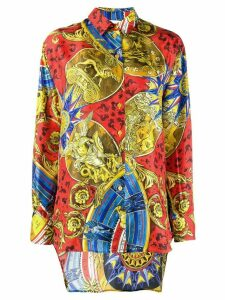 Moschino baroque-print shirt - Yellow