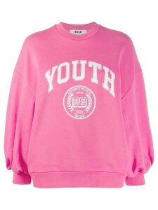 MSGM oversized 'Youth' sweatshirt - PINK