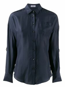 Brunello Cucinelli panel blouse - Blue