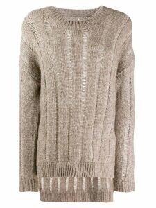 Uma Wang cable knit jumper - NEUTRALS