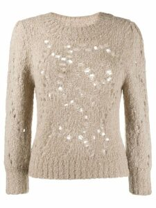 Isabel Marant Étoile knitted sweatshirt - Neutrals