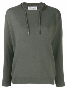 Brunello Cucinelli draw-string neck jumper - Green