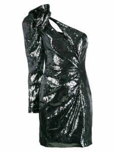 Dundas one-shoulder sequin mini dress - Metallic