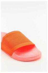 Womens Welcome To The Dark Slide Sliders - Orange - 7, Orange