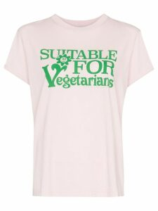 Stella McCartney Suitable For Vegetarians print T-shirt - PINK