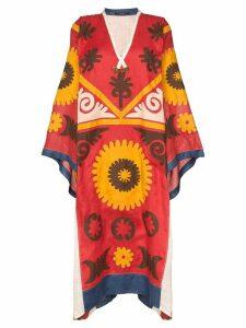 Vita Kin Marlborough embroidered kaftan - Multicolour
