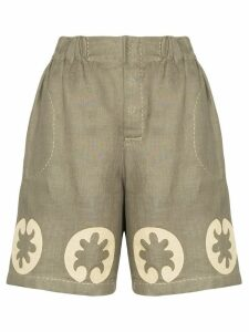 Vita Kin Nairobi embroidered shorts - Green